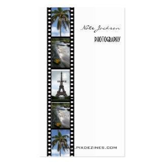 Plantilla de las fotos de las tarjetas de visita d