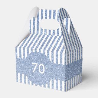 Plantilla de las rayas azules caja para regalos