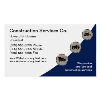 Plantilla de las tarjetas de visita de construcció