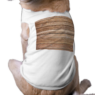 PLANTILLA DE MADERA BACKG de la TEXTURA del PASEO  Camiseta Sin Mangas Para Perro
