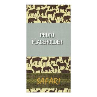 Plantilla de Photocard del safari Tarjetas Fotograficas Personalizadas