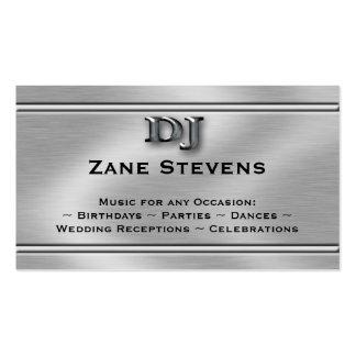 Plantilla de plata cepillada DJ de la tarjeta de Tarjeta Personal