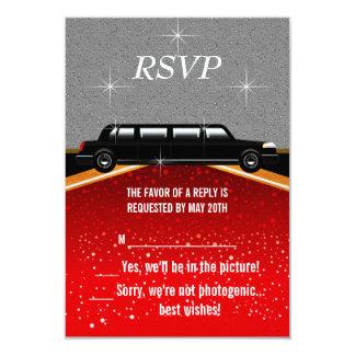 Plantilla de RSVP de la alfombra roja de Hollywood Invitación 8,9 X 12,7 Cm