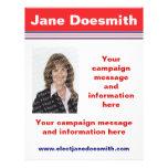Plantilla del aviador de la campaña electoral de tarjetas informativas