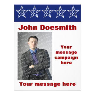Plantilla del aviador de la campaña electoral de folleto 21,6 x 28 cm