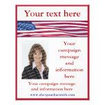 Plantilla del aviador de la campaña electoral de l tarjetas publicitarias
