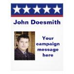 Plantilla del aviador de la campaña electoral de l flyer personalizado