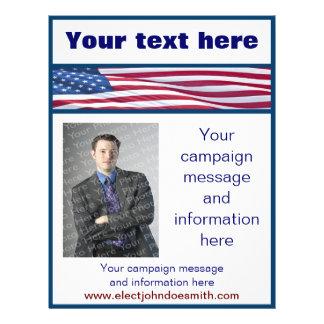 Plantilla del aviador de la campaña electoral de l folleto 21,6 x 28 cm