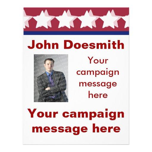 Plantilla del aviador de la campaña política tarjetas publicitarias