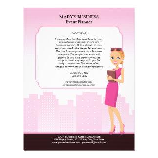 Plantilla del aviador del negocio de las mujeres ( folleto 21,6 x 28 cm