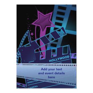 Plantilla del baile de fin de curso de Hollywood Invitación 12,7 X 17,8 Cm