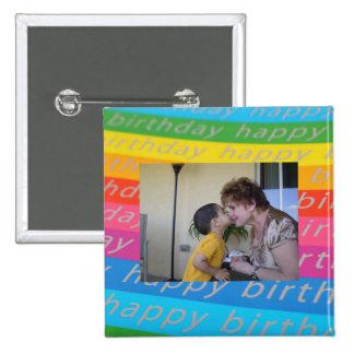 Plantilla del botón/Pin de la foto del cumpleaños
