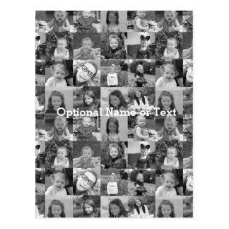 Plantilla del collage de 16 fotos - añada las postal