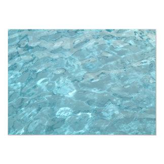 Plantilla del extracto del verano de la piscina invitación 12,7 x 17,8 cm