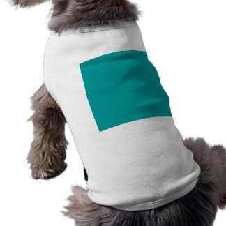 Plantilla del fondo de la turquesa del color sólid camiseta sin mangas para perro
