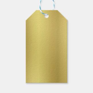 Plantilla del fondo del oro etiquetas para regalos