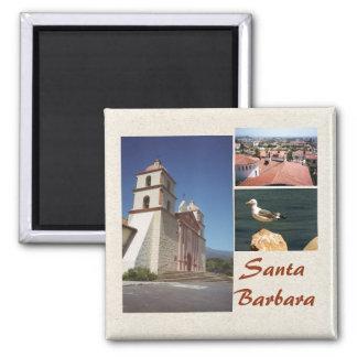 Imán Plantilla del imán de la foto de Santa Barbara 3