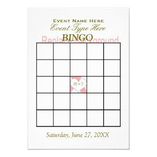 Plantilla del juego del bingo invitación 12,7 x 17,8 cm