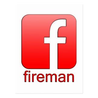 Plantilla del logotipo de Facebook del bombero Postales