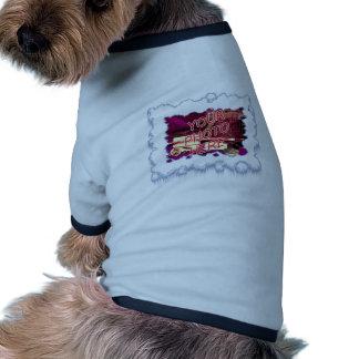Plantilla del marco de la nieve camiseta con mangas para perro