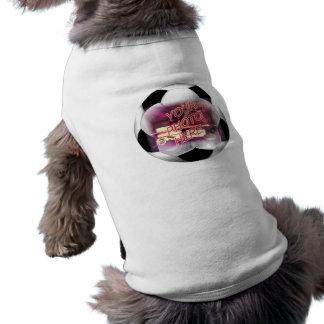 Plantilla del marco del balón de fútbol camiseta sin mangas para perro