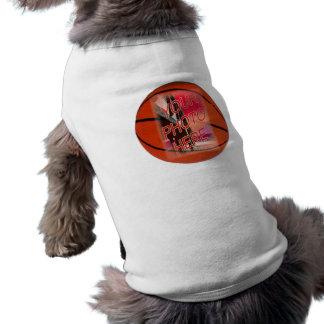 Plantilla del marco del baloncesto camiseta sin mangas para perro