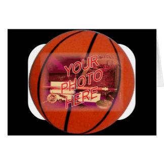 Plantilla del marco del baloncesto tarjeta de felicitación