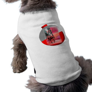 Plantilla del marco del Bobber de la pesca Camiseta Sin Mangas Para Perro