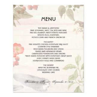 Plantilla del menú de la naturaleza del tema del folleto 11,4 x 14,2 cm
