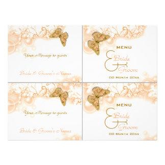 Plantilla del menú del boda de la comida fría del  flyer a todo color