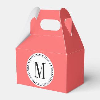 Plantilla del monograma caja para regalo de boda