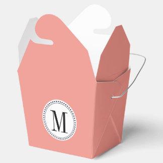 Plantilla del monograma caja para regalos
