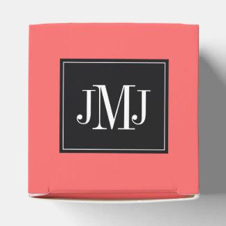 Plantilla del monograma cajas para detalles de boda