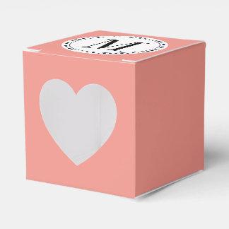 Plantilla del monograma cajas para regalos de boda