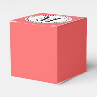 Plantilla del monograma cajas para regalos de fiestas