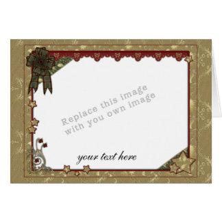 Plantilla del navidad tarjeta