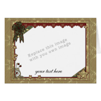 Plantilla del navidad tarjeta de felicitación