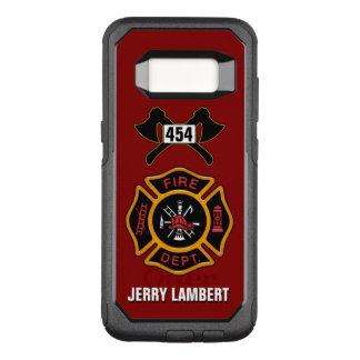 Plantilla del nombre de la insignia del bombero funda otterbox commuter para samsung galaxy s8