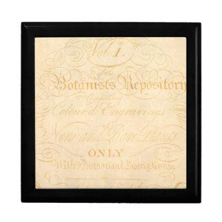 Plantilla del papel de pergamino del botánico del cajas de regalo