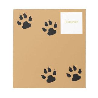 Plantilla del perro bloc de notas