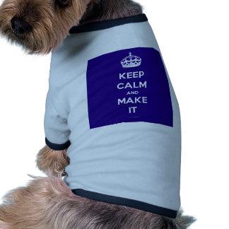 Plantilla del png camiseta con mangas para perro