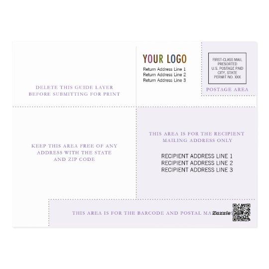 Plantilla del postal empresa con el logotipo y