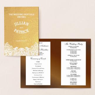 Plantilla del programa del boda de la nuez del