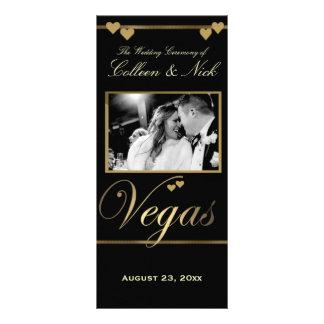 Plantilla del programa del boda de Vegas Lonas Personalizadas