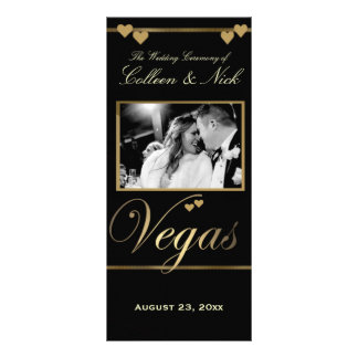 Plantilla del programa del boda de Vegas Tarjetas Publicitarias