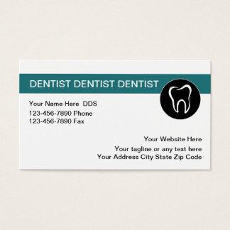 Plantilla dental de las tarjetas de visita