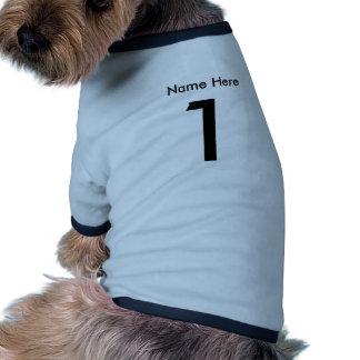 Plantilla deportiva de la camisa w/Name del perro Camiseta Con Mangas Para Perro