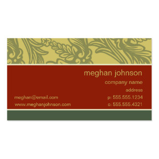 Plantilla elegante de la tarjeta de visita del lad