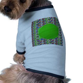 Plantilla elegante del disco verde Añada los salu Camisas De Perritos