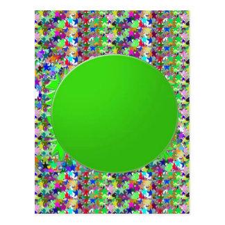 Plantilla elegante del disco verde: Añada los salu Tarjeta Postal